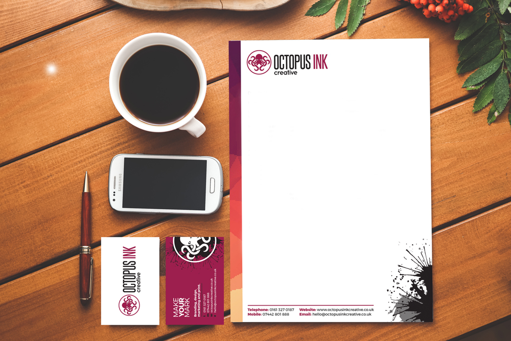 business stationery design in Manchester
